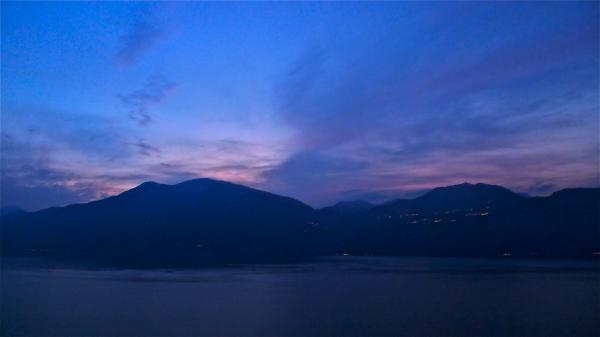 Anochecer en el Lago de Garda