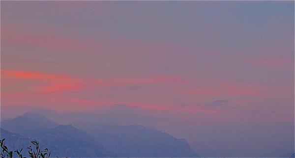 Crépuscule sur le Lago di Garda