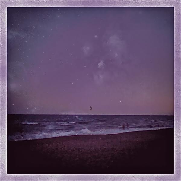 Beach, purple