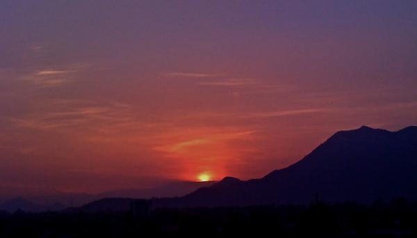 Sunset on the Mountain earlier