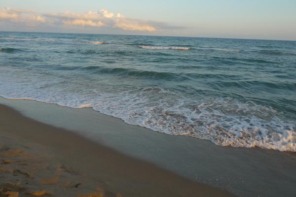 El atardecer en el mar