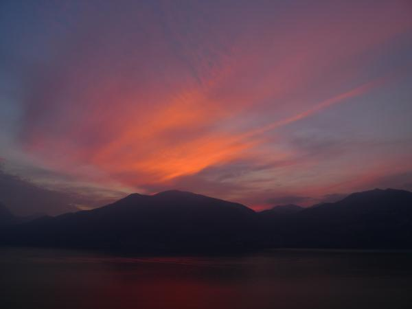 Sunset on Lago di Garda