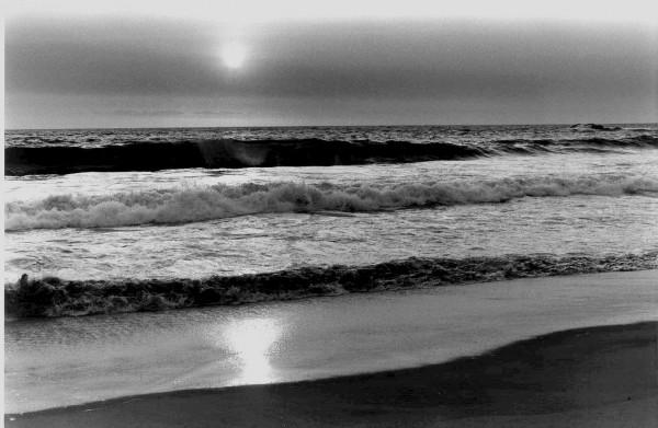 Crépuscule sur une plage chilienne